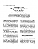Acculturation in M and A