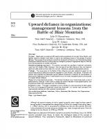 Battle of Mount Blair _ upward defiance in organizations
