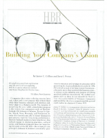 Building your comapny's vision