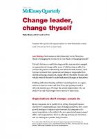 Change leader change thyself