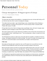 Change management 10 biggest agents of change – Personnel Today
