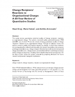 Change_ 60 year review of quantitative studies