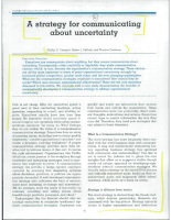Communicating about Uncertainty