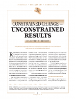 Constrained Change Unconstrained Results
