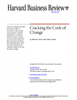 Cracking the Code of Change HBR