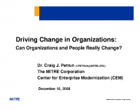 Driving Change in Orgs presentation
