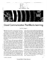 Good Communication the Blocks Learning_Argyris