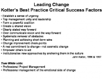 Kotler Best Practice CSF Change
