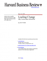 Leading Change _ Why transformation efforts fail KOTTER HBR