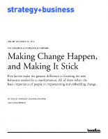 Making Change Happen and Making It Stick