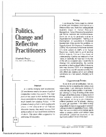 Politics Change and Reflective Practitioners