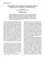 THE SYMBOLIC MANAGEMENT OF STRATEGIC CHANGE