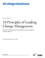 Ten principles of Leading Change Management
