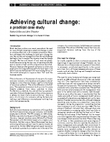 achieving cultural change