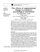 change and psych attachment