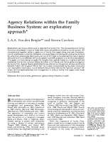 agency relations within the family system